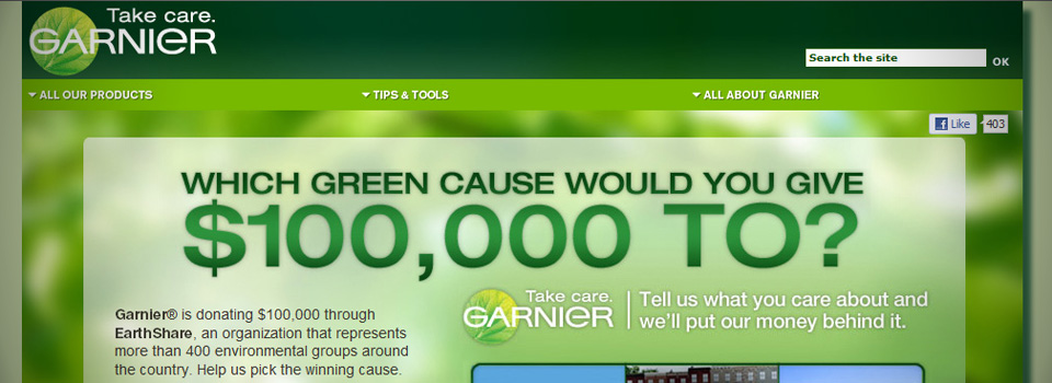 Garnier: EarthShare Program